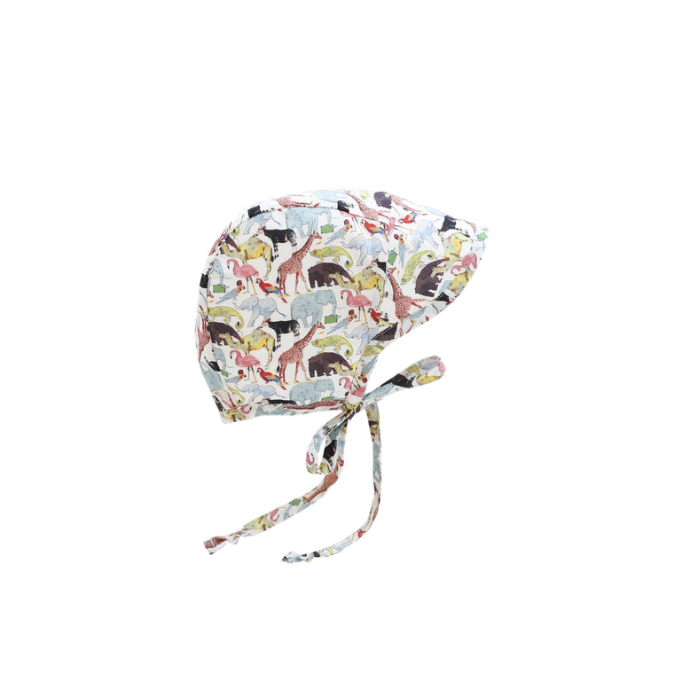 Brimmed Animalia Bonnet Silk-Lined