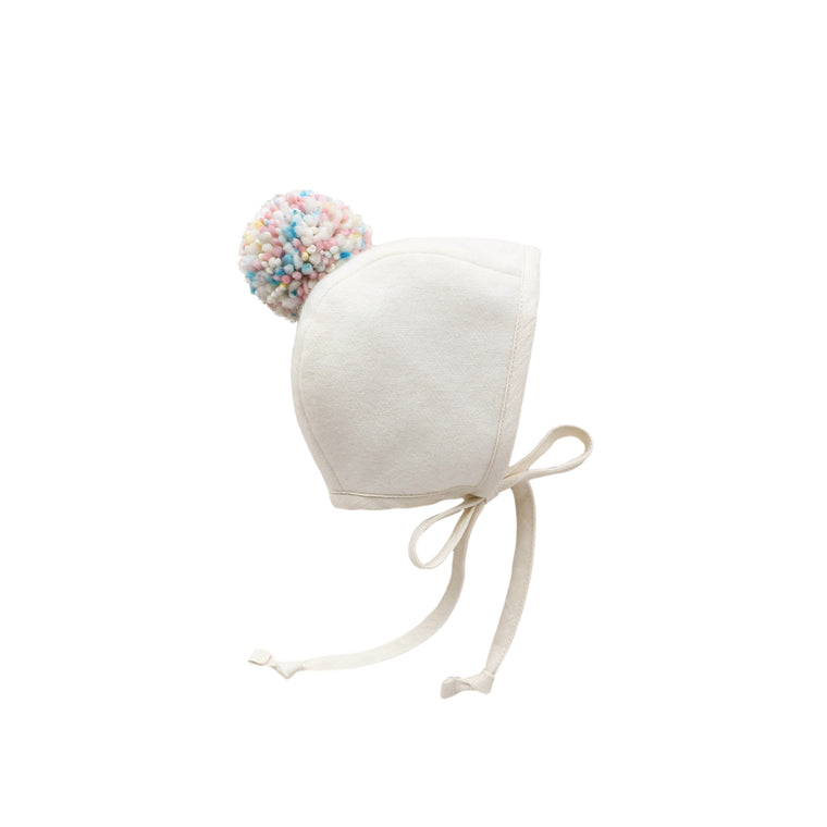 Flurry Pom Bonnet Silk-Lined