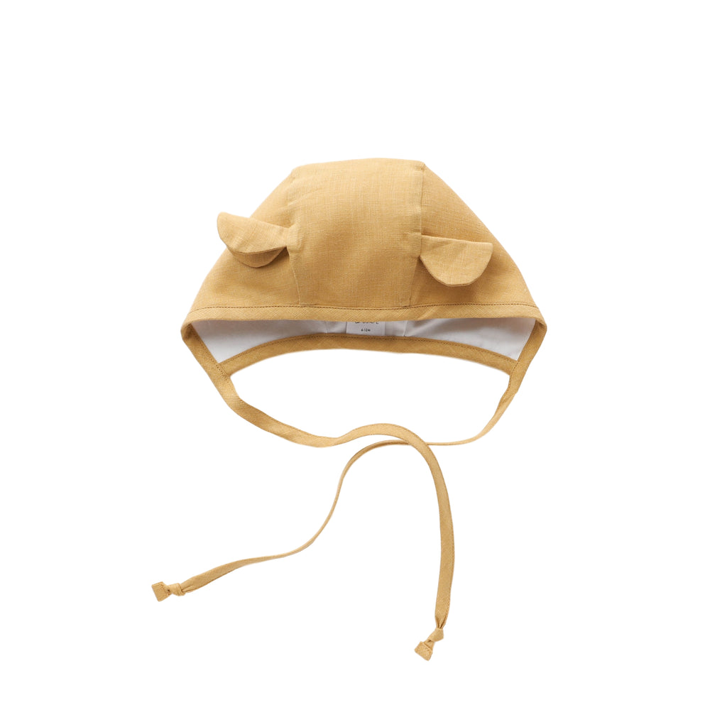 Honey Bear Bonnet Silk-Lined