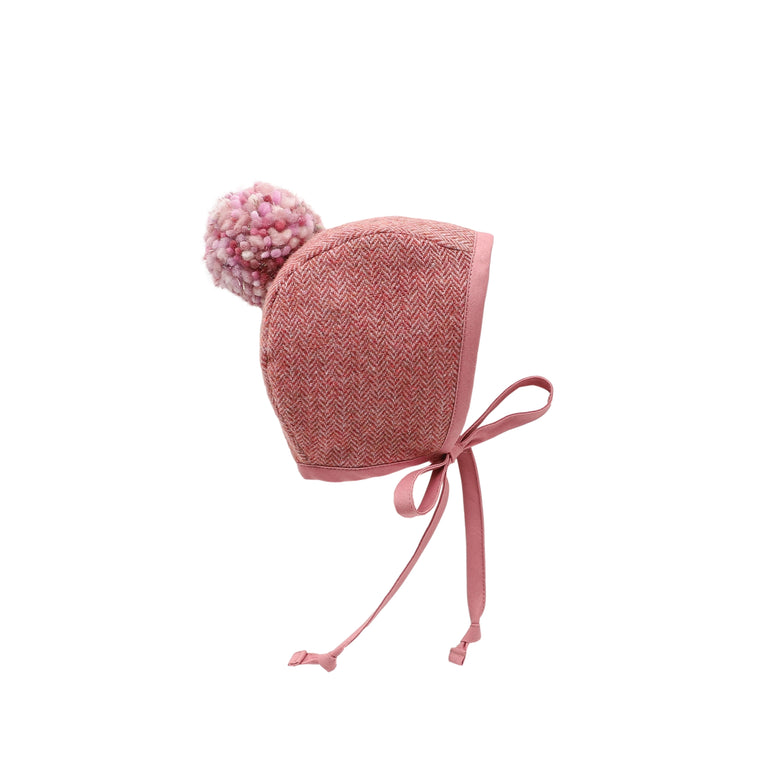 Ring Pom Bonnet Silk-Lined