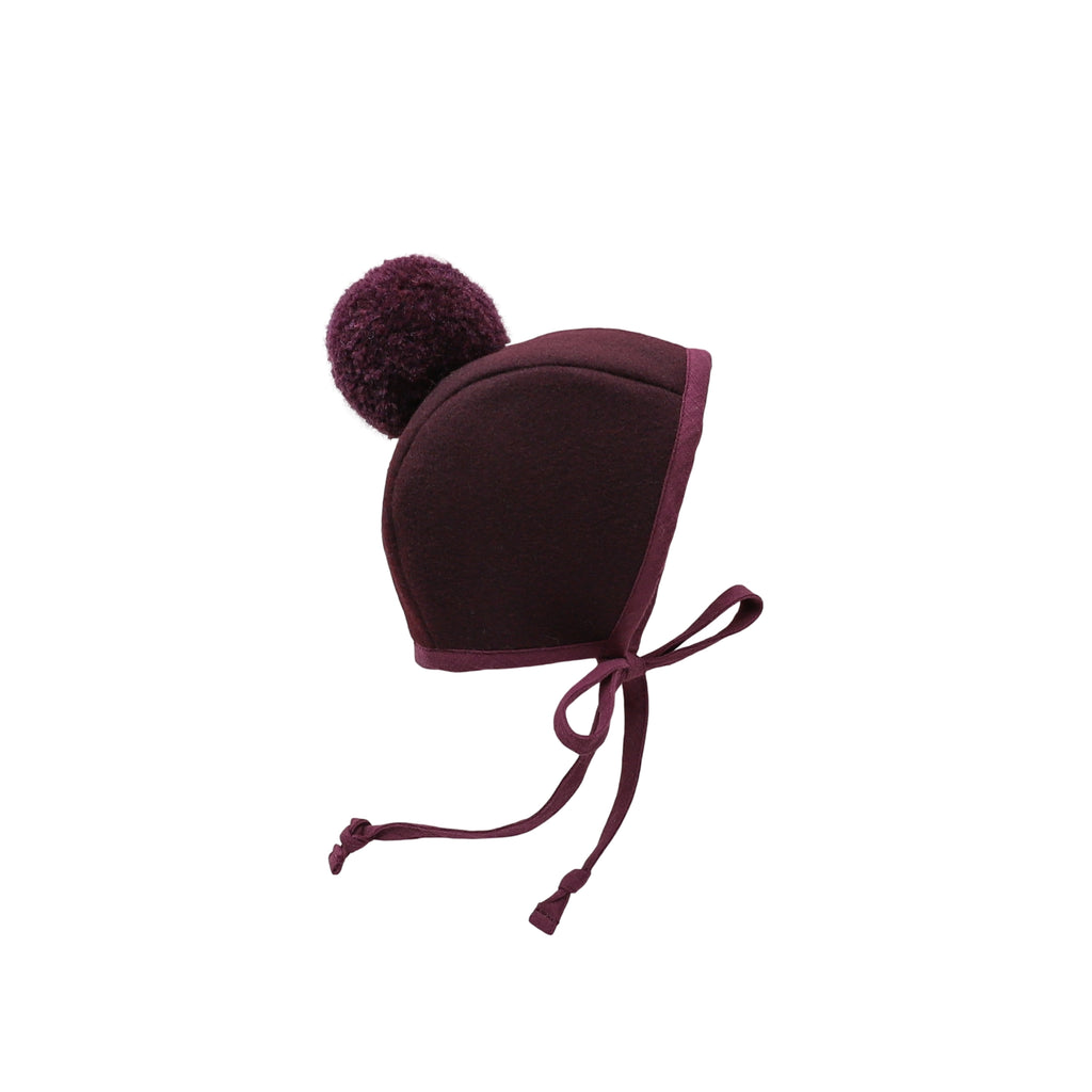 Cloche Pom Bonnet Sherpa-Lined