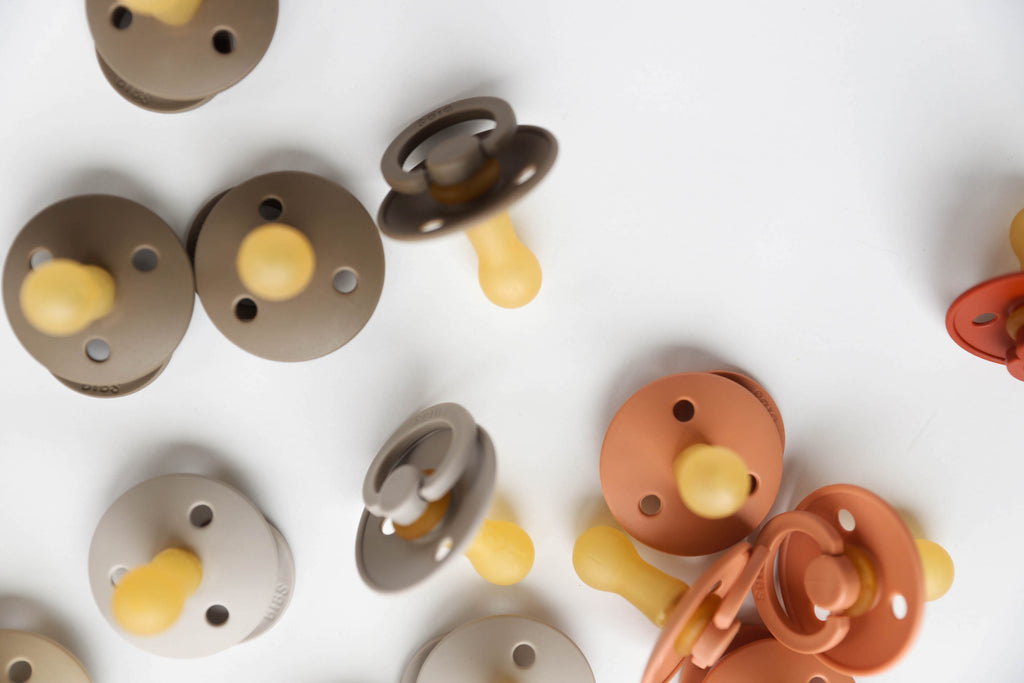 Dark Oak Natural Rubber Baby Pacifier