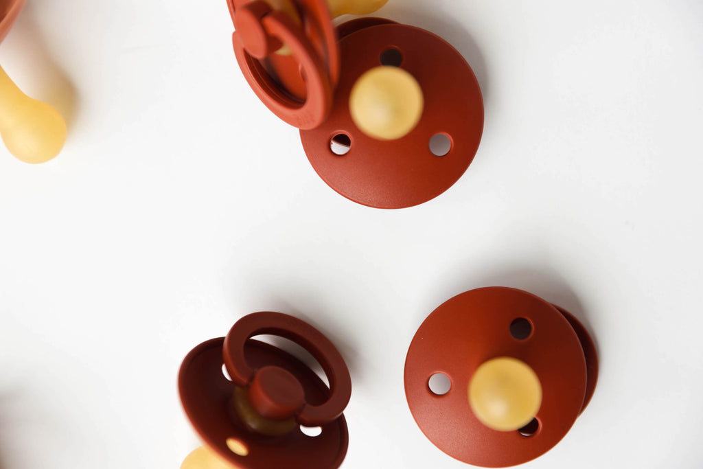 Rust Natural Rubber Baby Pacifier
