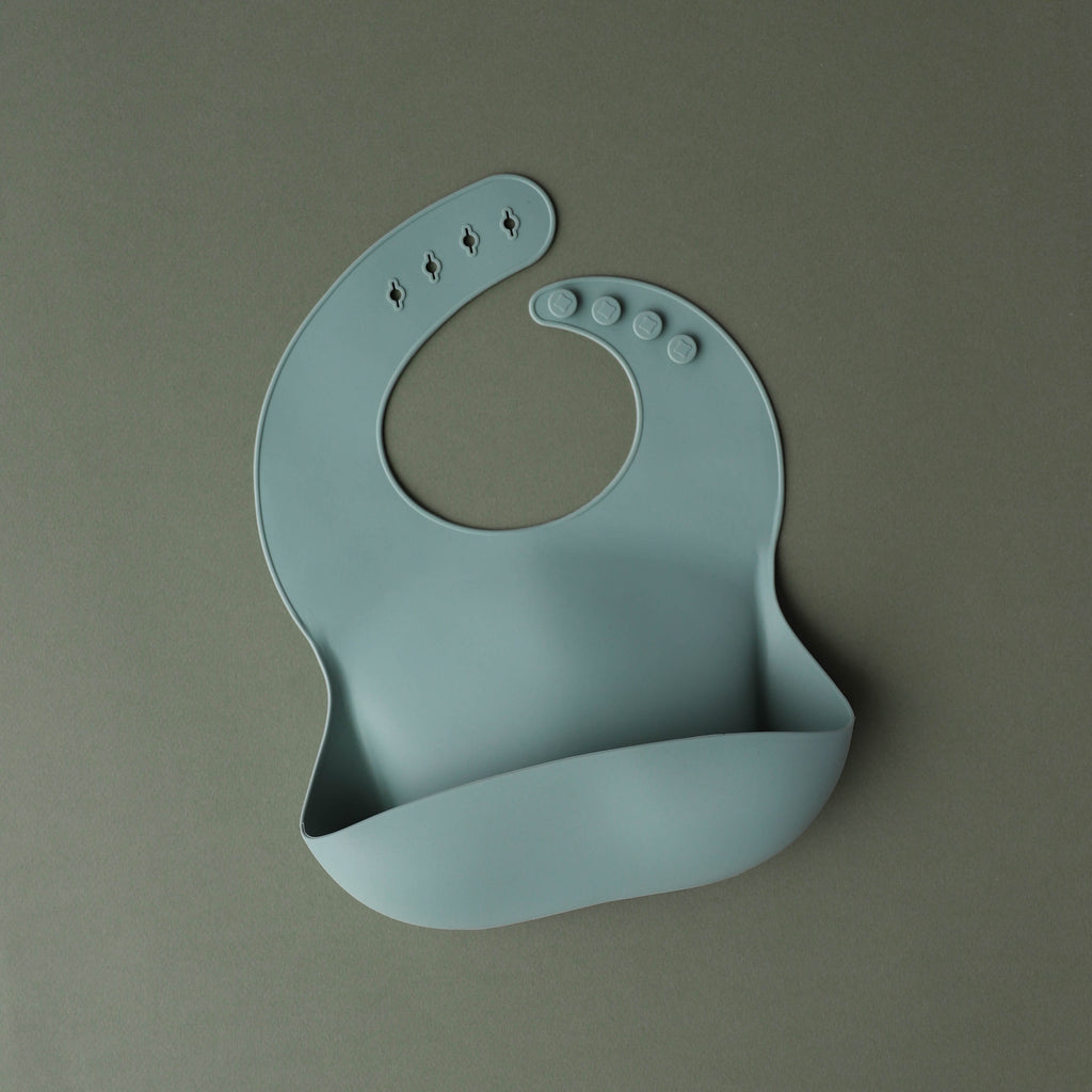 Cambridge Blue Silicone Bib