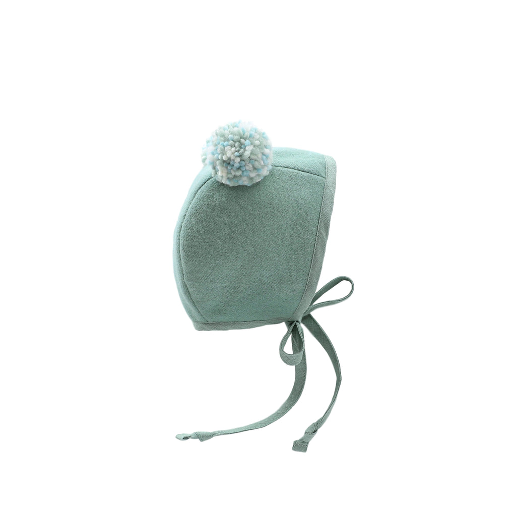 Mint Double Pom Silk Lined