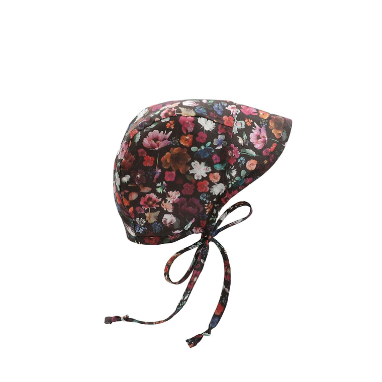 Brimmed Midnight Floral Edit Bonnet Silk-Lined