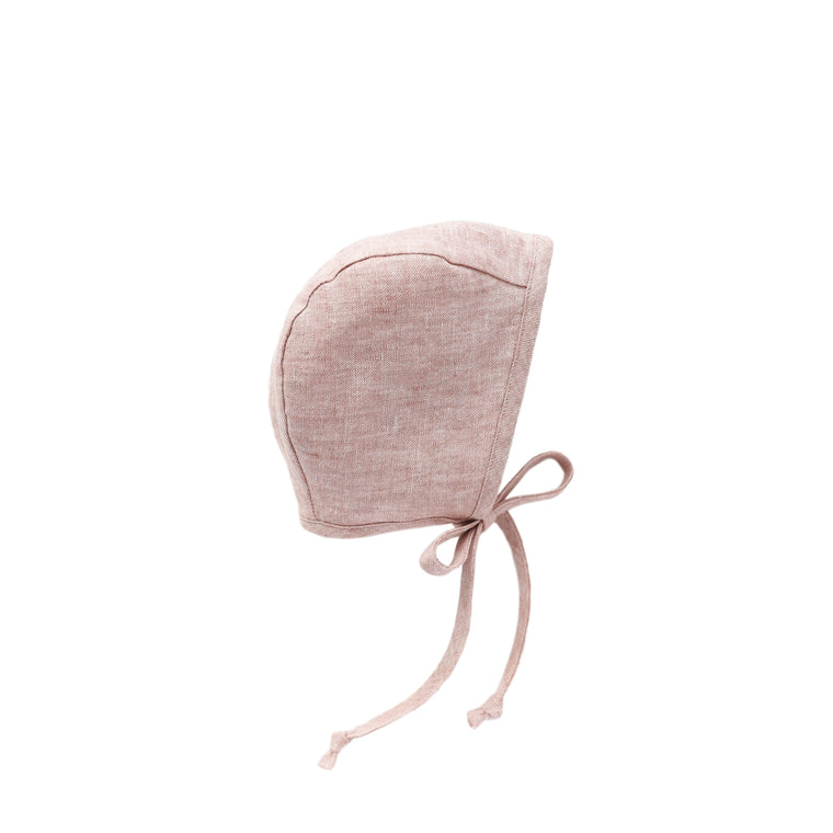 Blush Linen Bonnet Silk-Lined