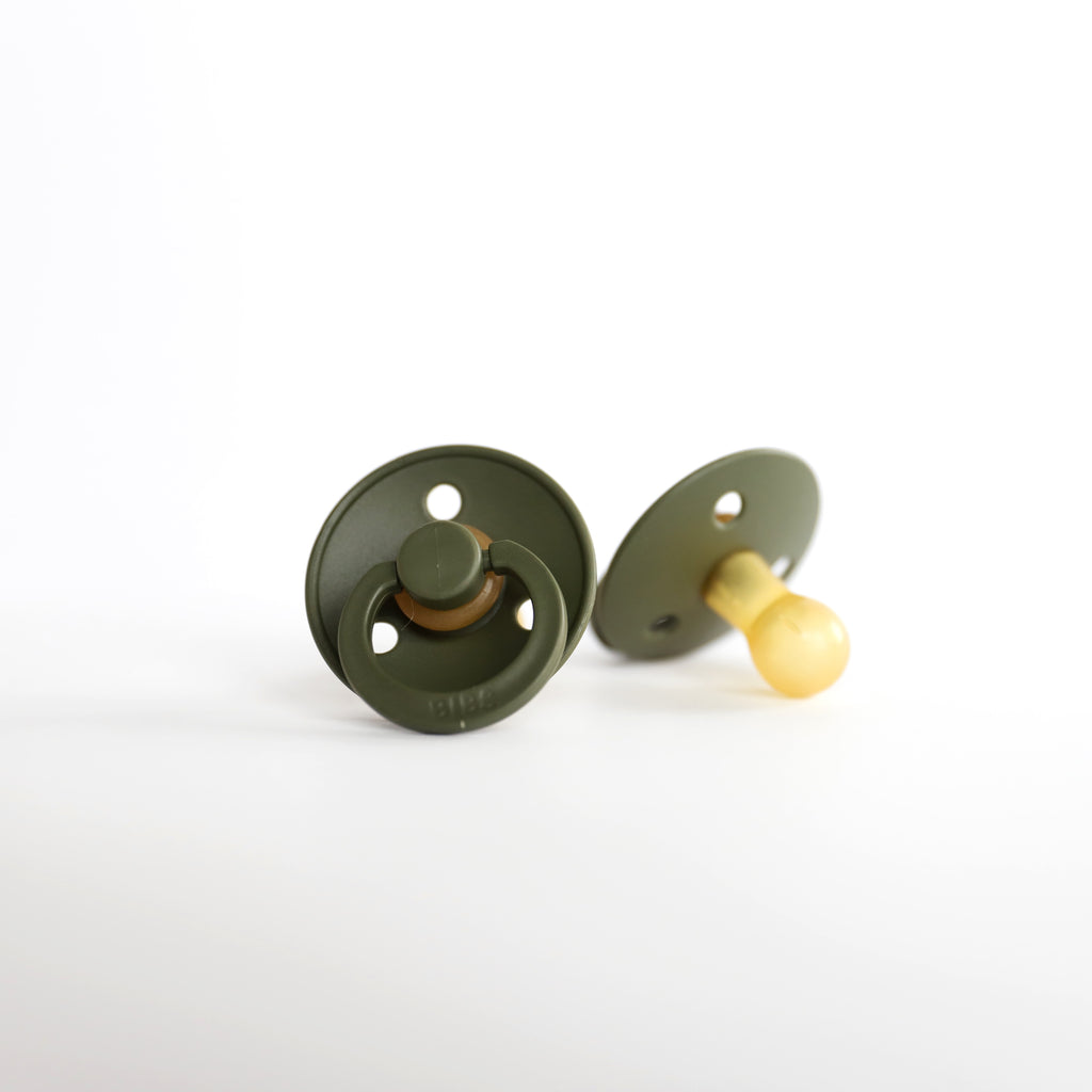 Hunter Green Natural Rubber Baby Pacifier