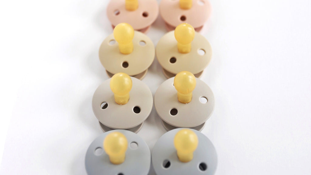 Sand Natural Rubber Baby Pacifier