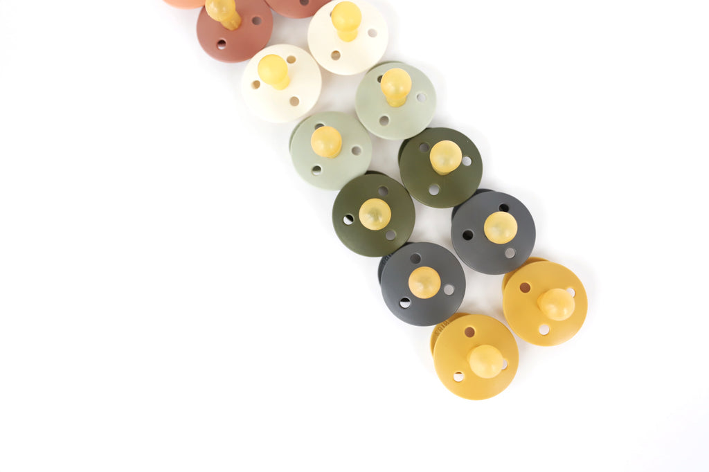 Mustard Natural Rubber Baby Pacifier