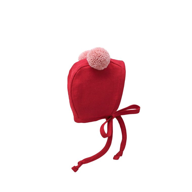 Roly Poly Double Pom Bonnet Silk-Lined