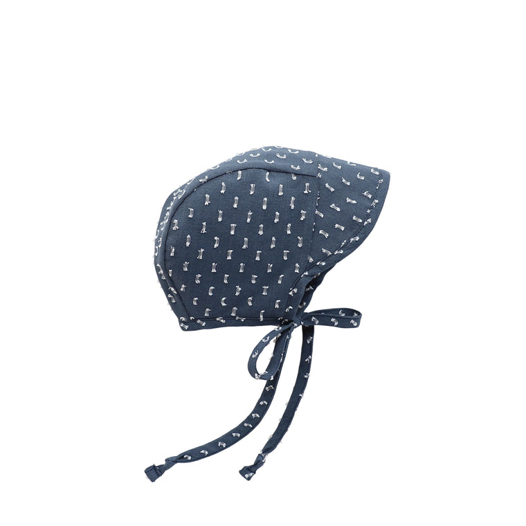Brimmed Starry Night Bonnet Silk-Lined