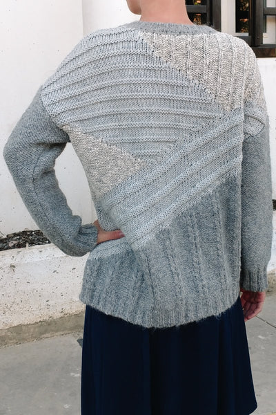 Alpaca Cable Knit Chunky Grey Sweater Womens Jessica