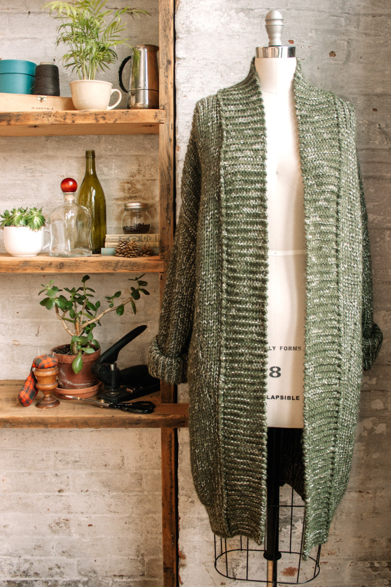 Alpaca Fleck Oversized Sweater Coat