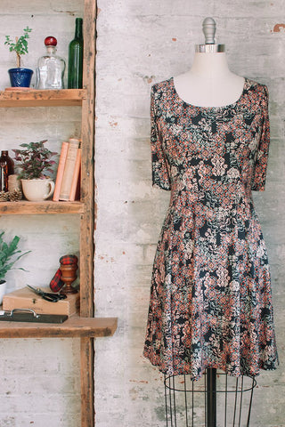 Marion - filigree liberty print dress