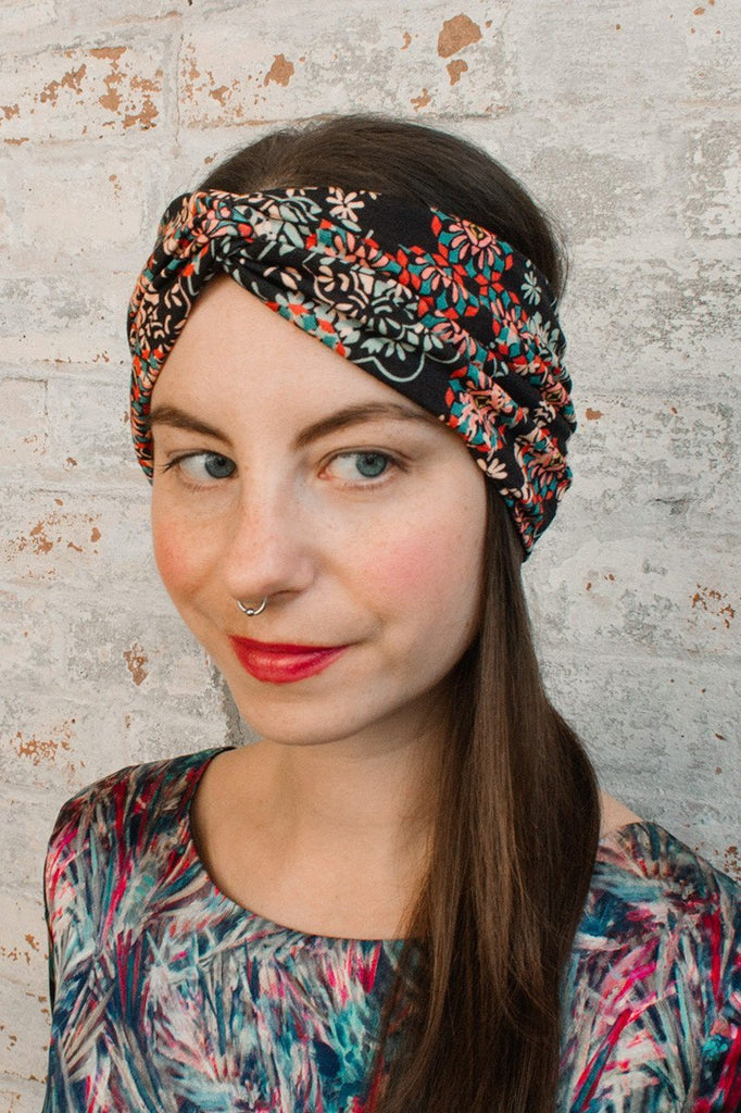 Turban Headband - filigree liberty of london print