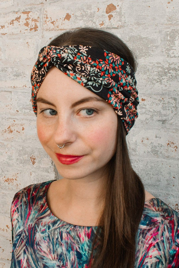Turban Headband - filigree liberty of london print-Women's Turban Headbands-Jessica Rose-Toronto Canada