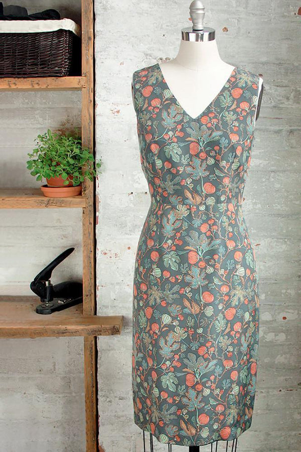Womens XL silk Liberty print sleeveless v-neck midi dress by Jessica Rose