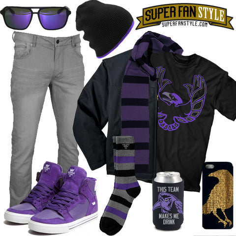 Ravens Super Fan Style How-to-wear-it