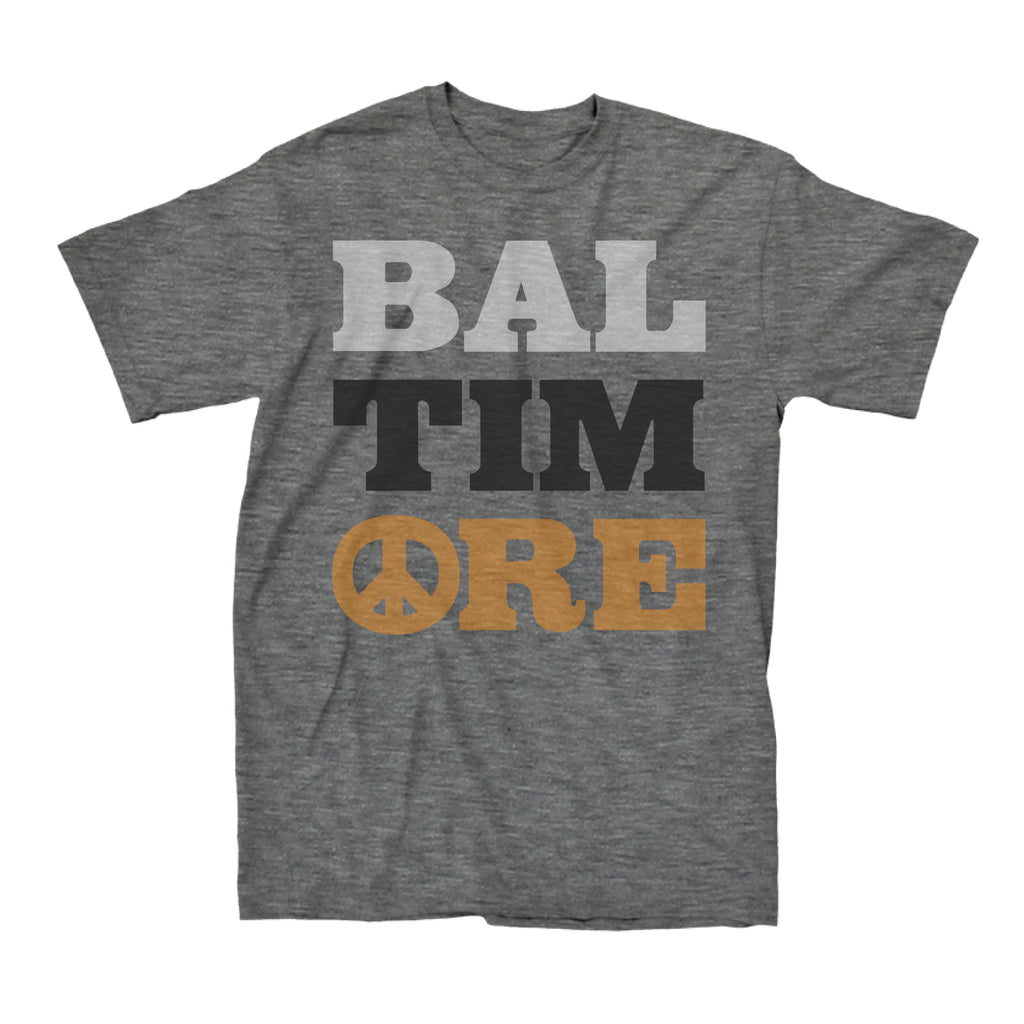 Baltimore Peace (Heather Grey) - Super Fan Style - 1