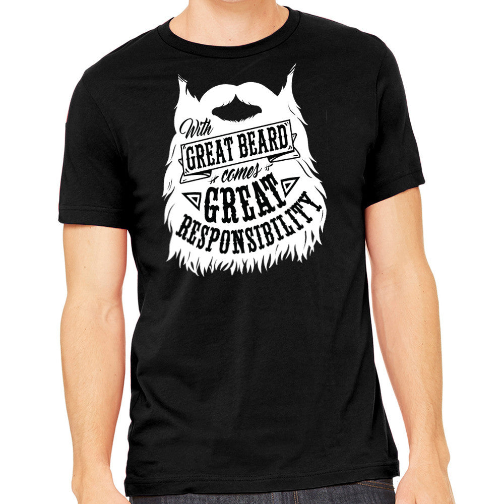 Men's Shirt - With Great Beard Comes Great Responsibility Shirt
