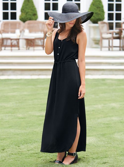Derby Maxi Dress Black
