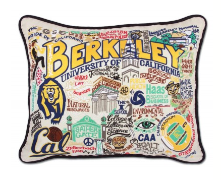 CAL Berkeley Hand-Embroidered Pillow