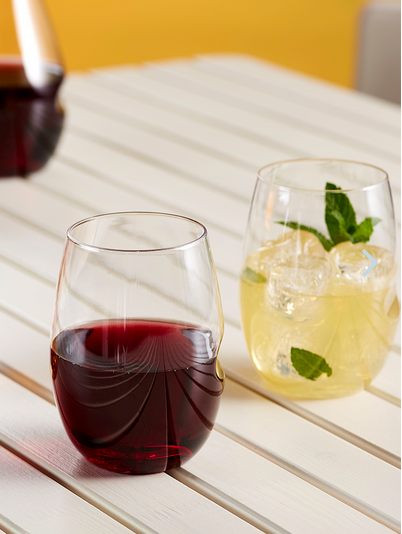 Clayton Dishwasher Safe Stemless Wine Glass