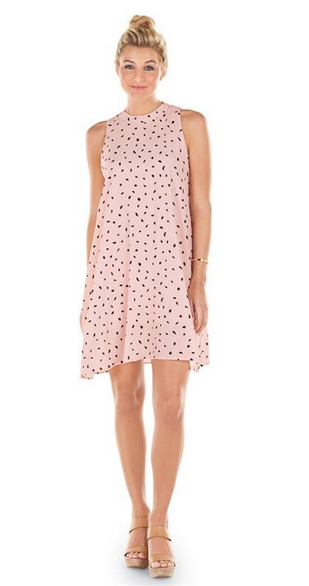 Sawyer Swing Dress Blush Dot