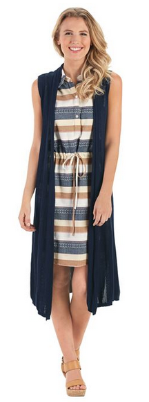 Arbor Knit Vest Navy from Mud Pie Fashion