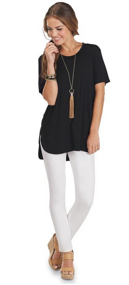 Tucker Jersey Tunic Black