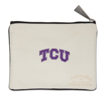 Texas Christian Univeristy Zip Pouch