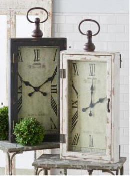 "28"" Rectangular Wood Wall Clock"