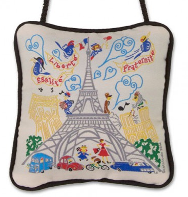 Eiffel Tower Mini Pillow