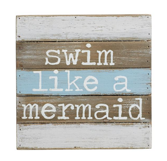 Swim Like a Mermaid Wall Plaque