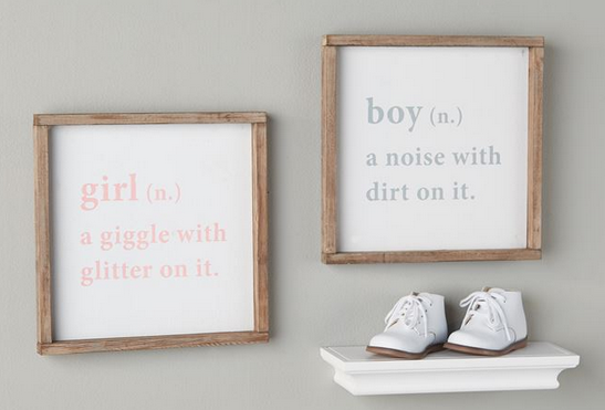 Boy & Girl Definition Plaque