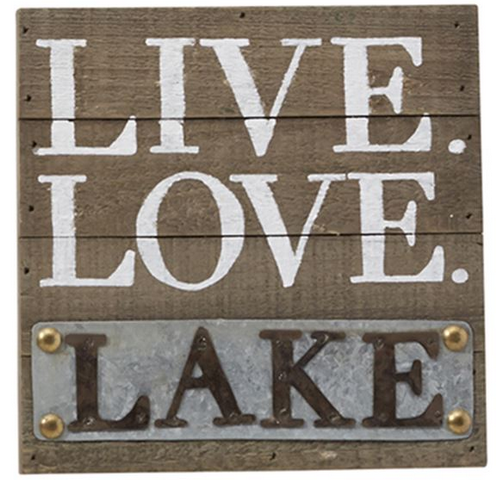 Live Love Lake Plaque