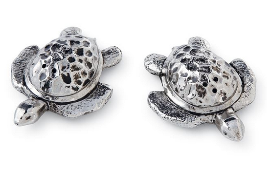 Metal Turtle Salt and Pepper