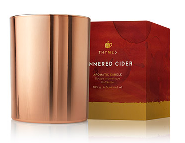 Simmered Cider Metallic Candle by Thymes