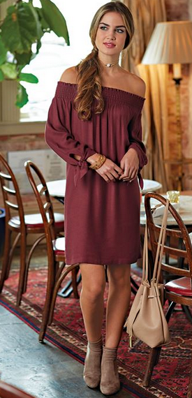 Elle Off-The-Shoulder Dress or Tunic from Mudpie Fashion