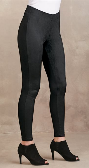 Cooper Suede Leggings Black by Mud Pie