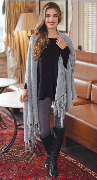 Sommer Sequin Wrap Gray