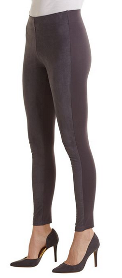 Cooper Suede Leggings Gray by Mud Pie