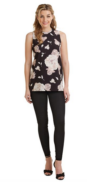 Tripp Sleevless Top Floral