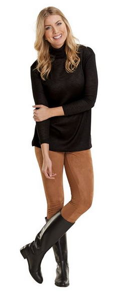 Georgina Turtleneck Black