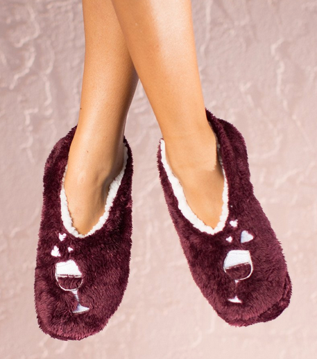 Wine Lover Cozy Cute Footsies