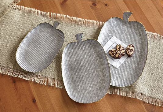 Tin Pumpkin Trays by Mud Pie