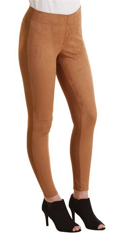 Cooper Suede Leggings Tan by Mud Pie