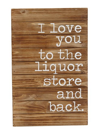 Liquor Store and Back Plaque