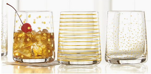 Gold Double Old Fashioned Glass